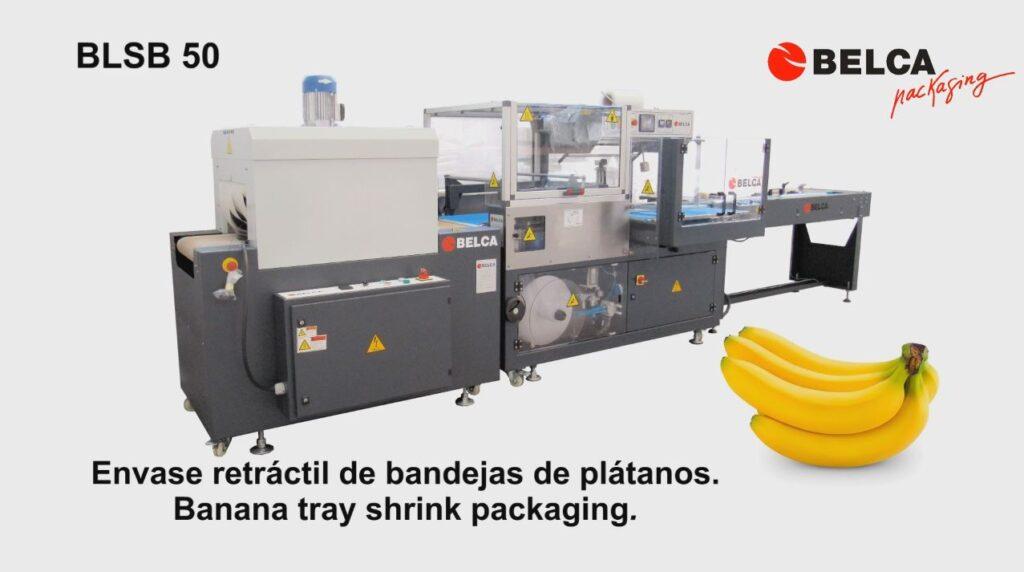 Envasado de bandejas de plátanos